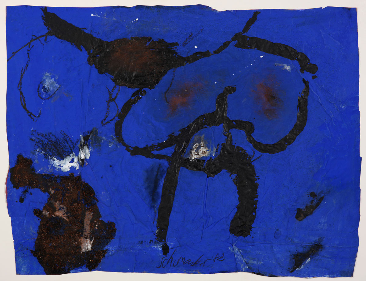 G-3/1982, 1982 Gouache and Sand on wrapping paper 62,5 x 81,5 cm
