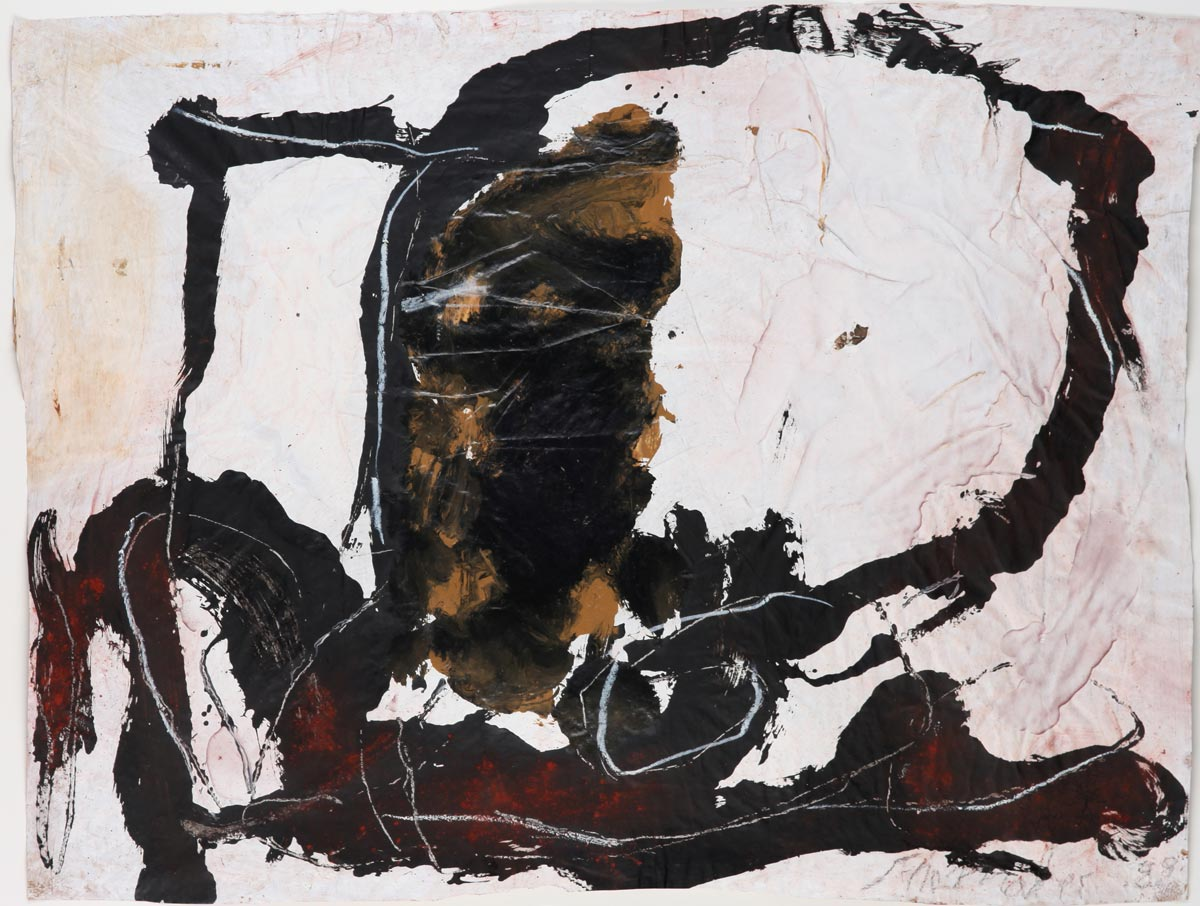G-107/1988, 1988 Gouache on wrapping paper 59 x 78 cm