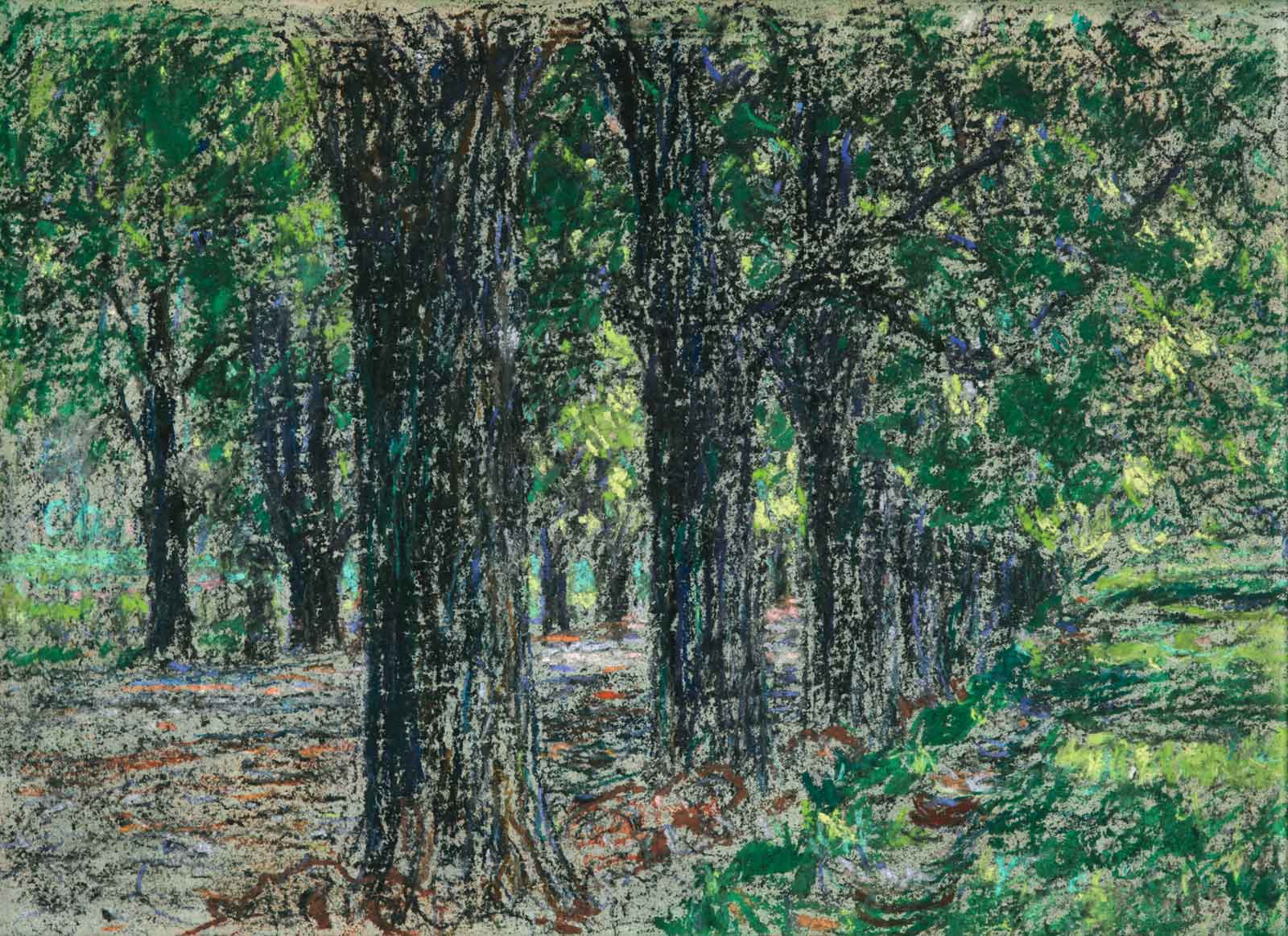 Christian Rohlfs, Belvedere-Allee, um 1900 Pastell on paper mounted on board
